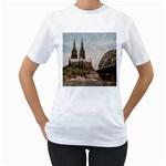 Cologne Womens  T-shirt (White)