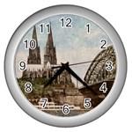 Cologne Wall Clock (Silver)