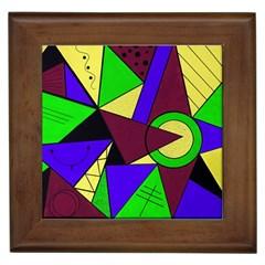 Modern Framed Ceramic Tile by Siebenhuehner