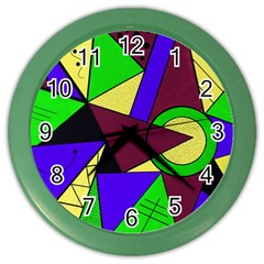 Modern Wall Clock (color) by Siebenhuehner