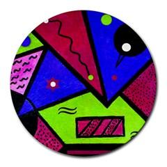 Modern Art 8  Mouse Pad (round) by Siebenhuehner