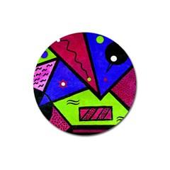 Modern Art Magnet 3  (round) by Siebenhuehner