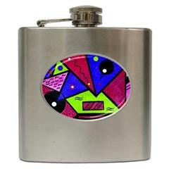 Modern Art Hip Flask by Siebenhuehner