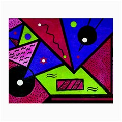 Modern Art Glasses Cloth (small, Two Sided) by Siebenhuehner