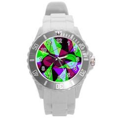 Modern Art Plastic Sport Watch (large) by Siebenhuehner