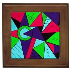 Modern Art Framed Ceramic Tile by Siebenhuehner
