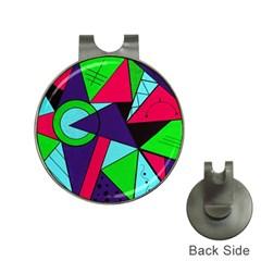 Modern Art Hat Clip With Golf Ball Marker by Siebenhuehner