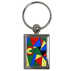 Modern Art Key Chain (rectangle) by Siebenhuehner