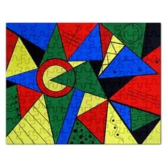 Modern Art Jigsaw Puzzle (rectangle) by Siebenhuehner