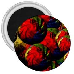 Balls 3  Button Magnet by Siebenhuehner