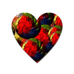 Balls Magnet (heart) by Siebenhuehner