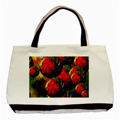 Balls Twin Sided Black Tote Bag