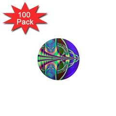 Design 1  Mini Button Magnet (100 Pack) by Siebenhuehner