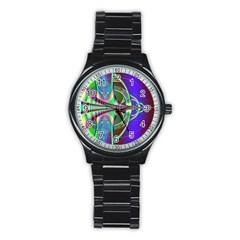 Design Sport Metal Watch (black) by Siebenhuehner