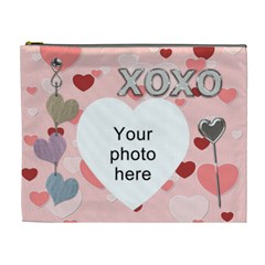 Kiss And Hug Xl Cosmetic Bag By Lil    Cosmetic Bag (xl)   X0lv0f150jff   Www Artscow Com Front