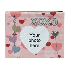 Kiss And Hug Xl Cosmetic Bag By Lil    Cosmetic Bag (xl)   X0lv0f150jff   Www Artscow Com Back