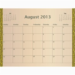 New 2014 By Terry   Wall Calendar 11  X 8 5  (12 Months)   R8wffkauh6m6   Www Artscow Com Aug 2013