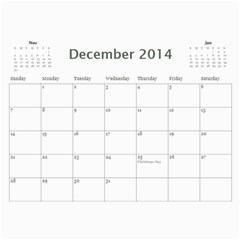 Stan By Vivian Hillborn   Wall Calendar 11  X 8 5  (12 Months)   Hkxnvimm44r4   Www Artscow Com Dec 2014