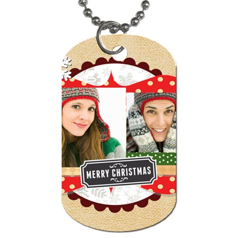 Merry Christmas By Merry Christmas   Dog Tag (one Side)   Ipmcgua6yvzk   Www Artscow Com Front