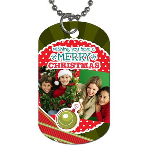 Merry Christmas By Merry Christmas   Dog Tag (one Side)   9s57souy3s77   Www Artscow Com Front