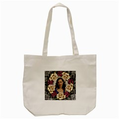 Roses And Lace Tote Bag By Deborah   Tote Bag (cream)   4rxlf09t8jkf   Www Artscow Com Front