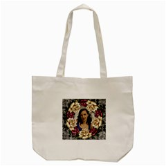 Roses And Lace Tote Bag By Deborah   Tote Bag (cream)   4rxlf09t8jkf   Www Artscow Com Back