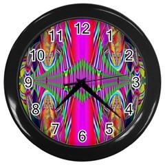 Modern Art Wall Clock (black) by Siebenhuehner