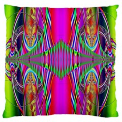 Modern Art Large Cushion Case (two Sided)  by Siebenhuehner