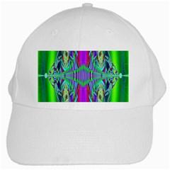 Modern Design White Baseball Cap by Siebenhuehner