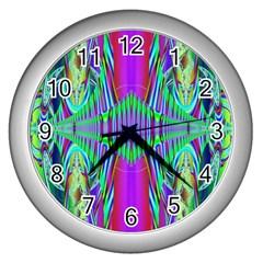 Modern Design Wall Clock (silver) by Siebenhuehner