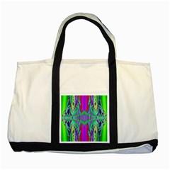 Modern Design Two Toned Tote Bag by Siebenhuehner