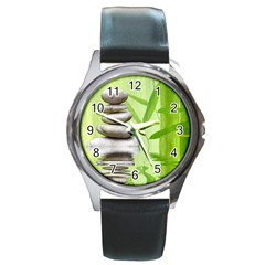 Balance Round Metal Watch (silver Rim) by Siebenhuehner