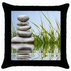 Balance Black Throw Pillow Case by Siebenhuehner