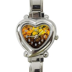 Modern Art Heart Italian Charm Watch  by Siebenhuehner