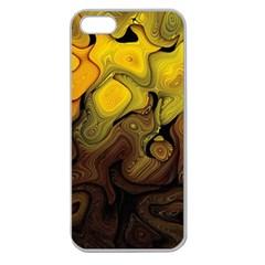 Modern Art Apple Seamless Iphone 5 Case (clear) by Siebenhuehner