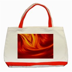 Wave Classic Tote Bag (red) by Siebenhuehner