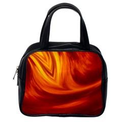 Wave Classic Handbag (one Side) by Siebenhuehner