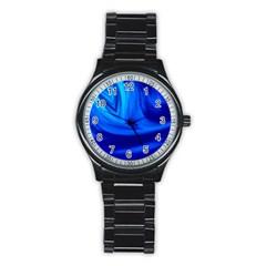 Wave Sport Metal Watch (black) by Siebenhuehner