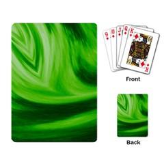 Wave Playing Cards Single Design by Siebenhuehner
