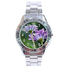 Flower Stainless Steel Watch (men s)