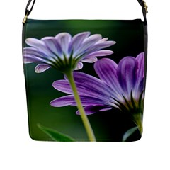 Flower Flap Closure Messenger Bag (large) by Siebenhuehner