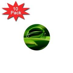 Waterdrop 1  Mini Button Magnet (10 Pack) by Siebenhuehner