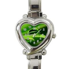 Waterdrop Heart Italian Charm Watch  by Siebenhuehner