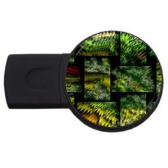 Modern Art 2gb Usb Flash Drive (round) by Siebenhuehner