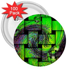 Modern Art 3  Button (100 Pack) by Siebenhuehner