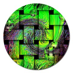 Modern Art Magnet 5  (round) by Siebenhuehner