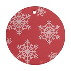 Let It Snow Round Ornament by PaolAllen