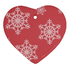 Let It Snow Heart Ornament by PaolAllen
