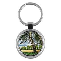 Trees Key Chain (round) by Siebenhuehner