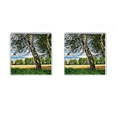 Trees Cufflinks (square) by Siebenhuehner